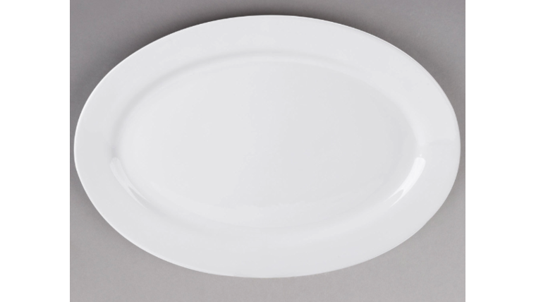 """Picture of a 20"""" x 13 3/4"""" China Platter Oval"""