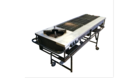 "Image of a 15""x45"" Grill Propane with Side Burner & Stand"