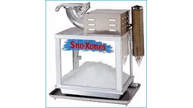 Image of a Snow Cone Machine - Clear Glass L