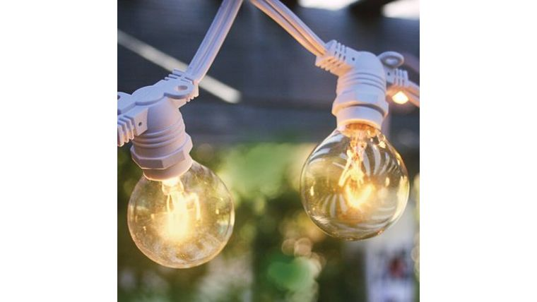 Picture of a Light Strand - Bistro/Cafe White DIY - 25 bulb
