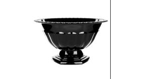 Image of a Black Compote Vase - Large