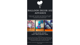 Image of a Advance Balloon Decor Class