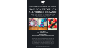 Image of a Advance Balloon Decor Class