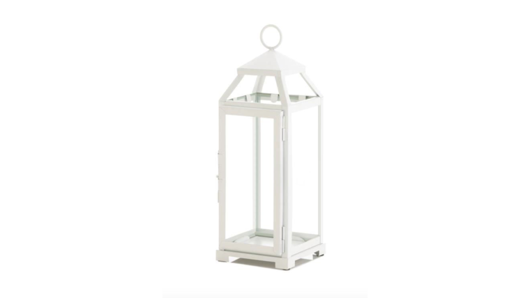 "Picture of a Country White Open Top 15"" Lamps & Lanterns"
