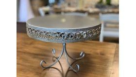 Image of a Silver Cake Pedestal Dish