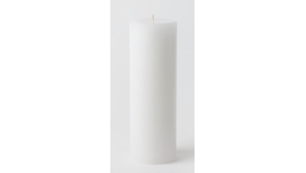 "Image of a 3"" X 9"" White pillar candle"