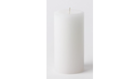 "Image of a 3"" x 6"" White Pillar Candle"