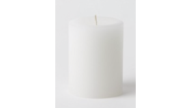 "Image of a 3"" x 4"" White Pillar Candle"