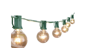 Image of a Globe string lights 25' Green wire String Lights