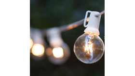 Image of a Globe string lights 50' White wire String Lights