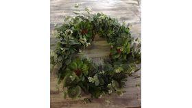 Image of a Eucalyptus Wreath Flowers