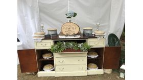 "Image of a Antique 6 drawer Ivory 37"" 5' 17"" Bars & Buffets"