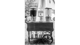 "Image of a Tea cart Brown 32"" 37.5"" 29"" Bars & Buffets"