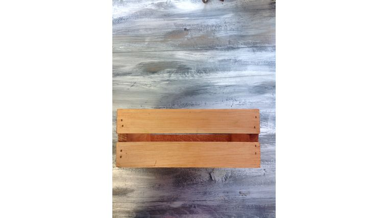 """Picture of a Apple crate Light brown Wood 5"""" 10"""" 12"""" Crates & Barrels"""