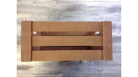 "Image of a Apple crate Dark brown Wood 5.5"" 8.5"" 11.5"" Crates & Barrels"