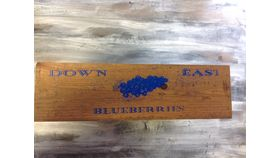 "Image of a Blueberry box Brown Wood 5"" 12.5"" 18"" Crates & Barrels"