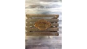 "Image of a Flower crate Weatherd Wood 6.5"" 8"" 10"" Crates & Barrels"