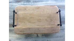 "Image of a Platters, Trays & Stands Wood Rectangle 19"" 13"" Serveware"