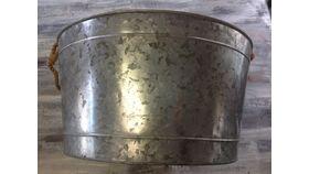 "Image of a Galvanized Tubs Round 9.5"" 18"" Beverage & Barware"