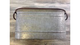 """Image of a Galvanized Tubs Industrial 8.5"""" 16"""" Beverage & Barware"""