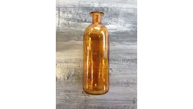 "Image of a Amber bottle Glass 10"" .5"" Vessels"