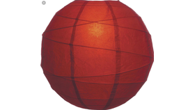 "Image of a Deep red Paper 14"" Lamps & Lanterns"