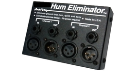 Image of a 2-channel Stereo Hum Eliminator with XLR