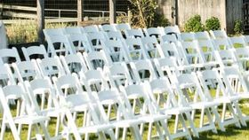 Image of a Chairs - White Resin Folding