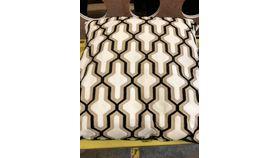 "Image of a Black & White Pattern Pillow 24"" x 24"""