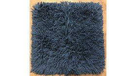 "Image of a Blue Shag Pillow Case 16"" x 16"""