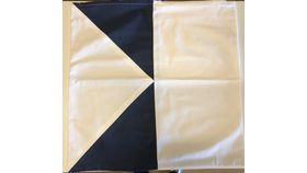 "Image of a Blue & White Seafarer Pillow Cover 22"" x 22"""