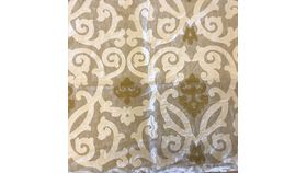 "Image of a Beige & Gold Damask Pillow Cover 24"" x 24"""