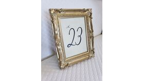 Image of a Gold 5x7 Picture Frame Table Number