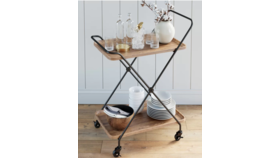 """Image of a Bar Cart Retro Style, 2 tier, 27"""" x 17"""", 36""""H"""