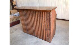 "Image of a Rustic Bar, Metal & Wood, 60""L x 48""H"