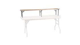 "Image of a Bar Riser, birch wood top, 8 ft L x 12"" x12"""