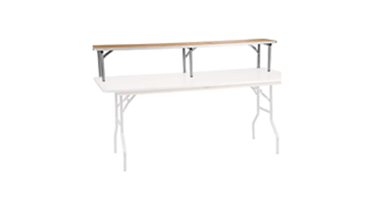 """Picture of a Bar Riser, birch wood top, 8 ft L x 12"""" x12"""""""