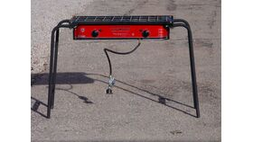 Image of a 2 burner Propane Grill, Camp Chef, folding - not incl. propane
