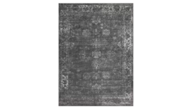 Image of a Dark Grey distressed area rug