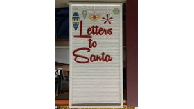Image of a Letters to Santa Wall