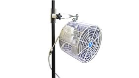 "Image of a Fan - 12"" white tent fan includes clamp"