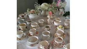 Image of a China - Tea cup w saucer - Eclectic Patterns