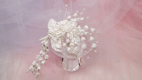 Image of a Bridal hair accessories, Head piece, flowers with pearls and beads
