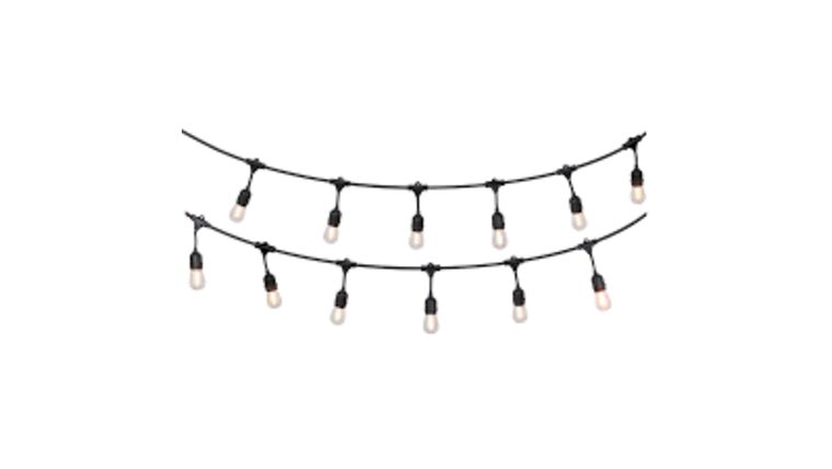 Picture of a 100' Black String Lights (12'' spacing)