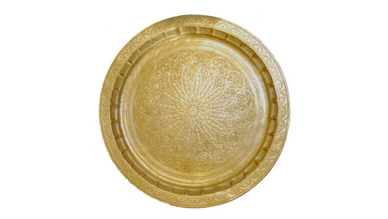 Picture of a Brass Moroccan Tray
