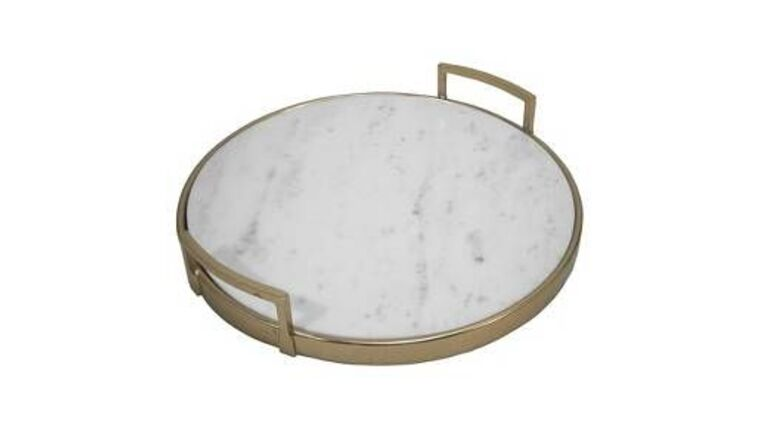 Picture of a Marble & Brass Cake Tray