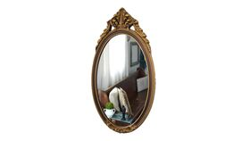 Image of a Gilded Small Mirror