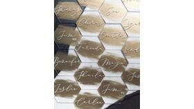 Image of a Table Numbers Gold Acrylic