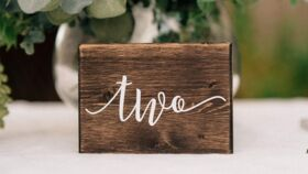 Image of a Table Numbers Modern Wood Block