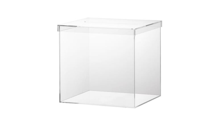Picture of a Clear Acrylic Card Box